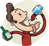 Consumición bebida stock de ilustración