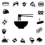 Consumición de iconos de la silueta Imagen de archivo libre de regalías