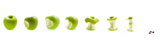 Consumición de la manzana Imagen de archivo