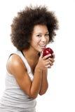 Consumición de la manzana Foto de archivo libre de regalías