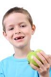 Consumición de la manzana Fotografía de archivo libre de regalías