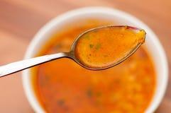 Consumición de la sopa Fotos de archivo libres de regalías