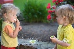 Consumición de las frutas Foto de archivo libre de regalías