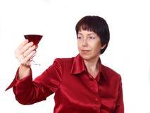 Consumición de las mujeres Imágenes de archivo libres de regalías