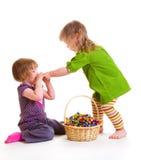 Consumición de los dulces Foto de archivo libre de regalías