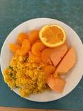 Consumición de naranjas foto de archivo libre de regalías