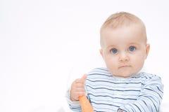 Consumición de zanahorias Imagen de archivo libre de regalías