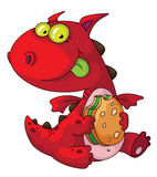 Consumición del dragón Imagenes de archivo