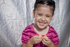 Consumición del queso Imagen de archivo libre de regalías