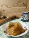 Consumición en China - bolas de masa hervida tradicionales del arroz Foto de archivo libre de regalías