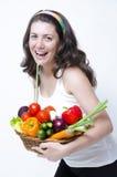 Consumición en la dieta Foto de archivo libre de regalías
