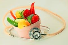Verduras sanas del corazón Foto de archivo