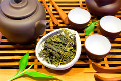 Consumición sana Té verde Foto de archivo