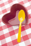 Consumición sana del corazón Fotos de archivo libres de regalías