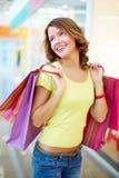 Consumidor alegre Imagen de archivo libre de regalías
