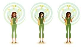 Consumidor confuso - produtos Eco-friendly Imagem de Stock