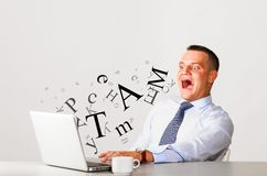 Consuming information Royalty Free Stock Images