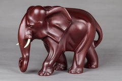 The elephant wood carvings. Consummate craft elephants, meticulous carving vivid modelling, vivid gestures, perfect produce stable, solemn elephant image, convey Royalty Free Stock Image