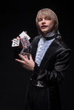 Consummate mastery of magician Stock Photography