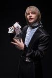 Consummate mastery of magician Stock Photography