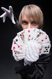Consummate mastery of magician Stock Photo