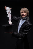Consummate mastery of magician Royalty Free Stock Photo