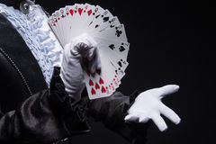 Consummate mastery of magician Stock Photos