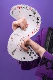 Consummate mastery of magician Royalty Free Stock Image