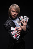 Consummate mastery of magician Royalty Free Stock Images