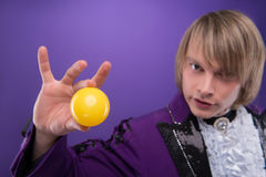 Consummate mastery of magician Stock Image
