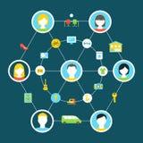 Consumo colaborador e ilustração compartilhada do conceito da economia Fotos de Stock