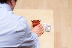 Consumo de drogas y alcohol Fotografía de archivo