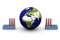 Consumo de energia (Europa) ilustração royalty free