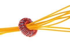Consumption in the industry, cable line and coil Royalty Free Stock Image