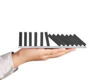 Contínuo dos dominós da parada da mão ruído Imagem de Stock