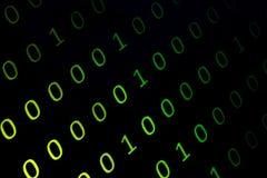Contínuos numéricos, dados do abctract no código binário, dão o felling da tecnologia imagens de stock