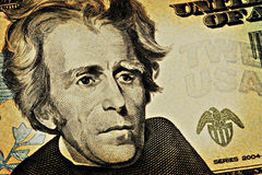 Conta de dólar 20 envelhecida Fotos de Stock Royalty Free