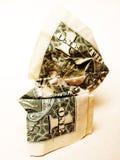 Conta de dólar amarrotada Imagens de Stock