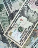 Conta de dólar dez Imagens de Stock