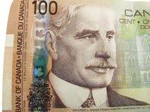 Conta de dólar do canadense 100 Foto de Stock Royalty Free