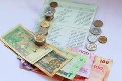 Conta de depósito, negócio em um fundo branco imagem de stock royalty free