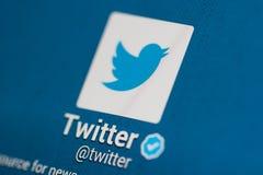 Conta de Twitter Foto de Stock
