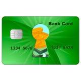 Conta do cartão do banco Imagem de Stock