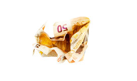 Conta do Euro do esmagamento 50 Imagens de Stock