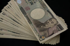 Conta do iene japonês Foto de Stock Royalty Free
