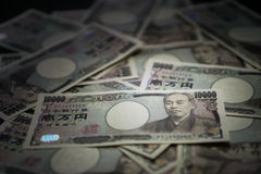 Conta do iene japonês Fotografia de Stock
