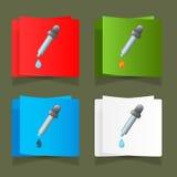 Conta-gotas da medicina do ícone com um vetor da gota Foto de Stock Royalty Free
