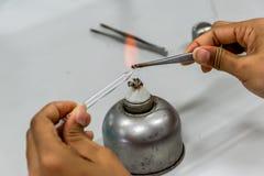 Conta-gotas da queimadura Fotos de Stock