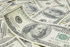 Conta ondulada do dólar americano Imagens de Stock Royalty Free