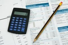 Contabilidad financiera Foto de archivo libre de regalías